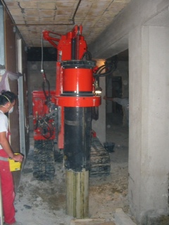 Limited Access Pier Drilling